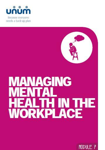Mental health in the workplace
